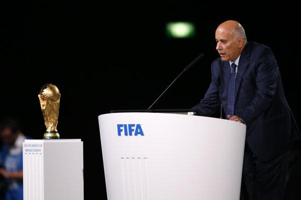 Šéf Palestínskej futbalovej federácie Džibríl Radžúb.