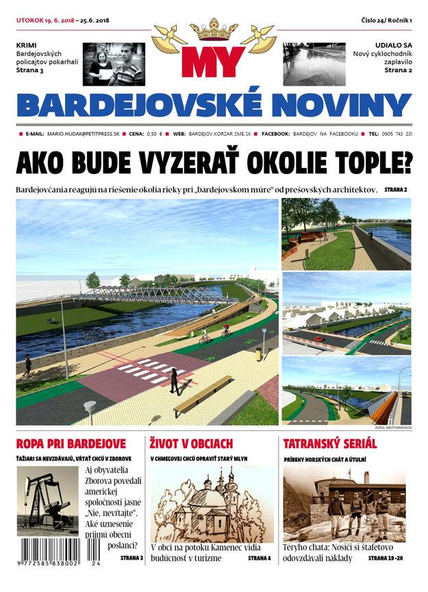 Titulka MY Bardejovské noviny číslo 24