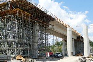 Mostný objekt S 205 na úseku stavby D3 Čadca, Bukov - Svrčinovec.