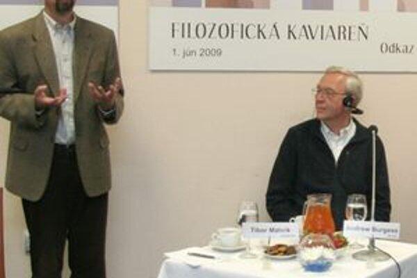 Tibor Máhrik, Andrew Burgess a ďalší hostia hovorili o Kierkegaardovi.