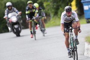 Peter Sagan počas spoločných majstrovstiev Slovenska a Česka v cyklistike.