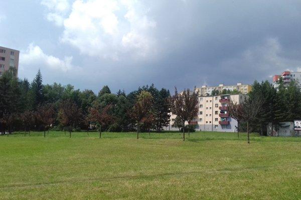 Jedna z posledných zelených plôch  Fončordy.