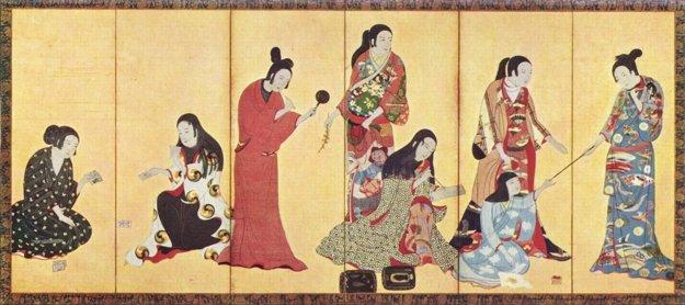 kimono v 17. storočí