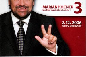 15. november 2006. Marián Kočner, ako kandidát na primátora mesta Bratislava.