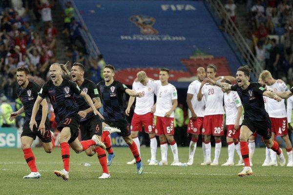 Chorvátsko po premenenej penalte Ivana Rakitiča mohlo oslavovať.