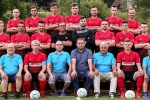 Kolektív najlepšieho mužstva okresu TJ Dunajec Spišská Stará Ves.