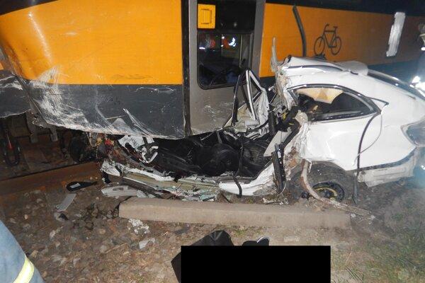Záber z miesta tragickej nehody.