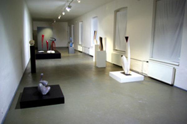 Sochy vo veľkej výstavnej sieni PGU.