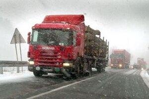 Dopravné problémy sneh zatiaľ nespôsobil.