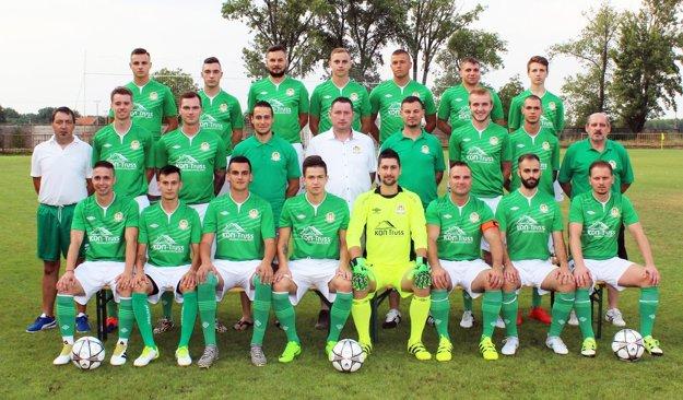 A-mužstvo Horných Salíb z augusta 2017.