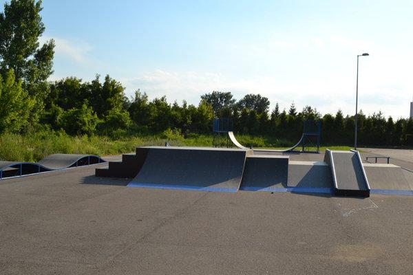 Skatepark po rekonštrukcii.