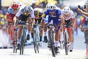 Peter Sagan (vľavo) a Fernando Gaviria (vpravo) sú najväčší favoriti na zisk zeleného dresu na Tour de France 2018.