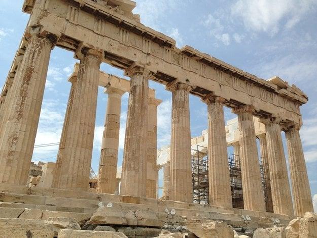 Panthenon, najvýznamnejší chrám v Akropole.