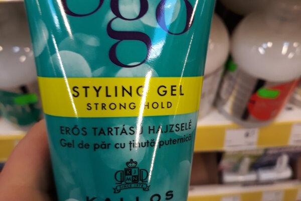 Na snímke je   gél Gogo Styling Gel Strong Hold od maďarského výrobcu Kallos Cosmetics.