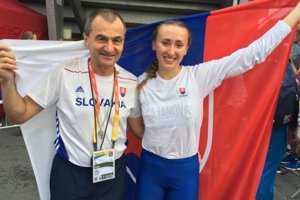 Gabriela Gajanová s trénerom Pavlom Sloukom.