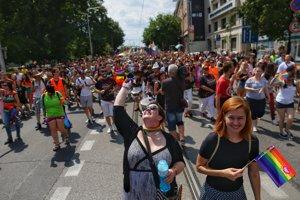 Dúhový Pride v Bratislave.