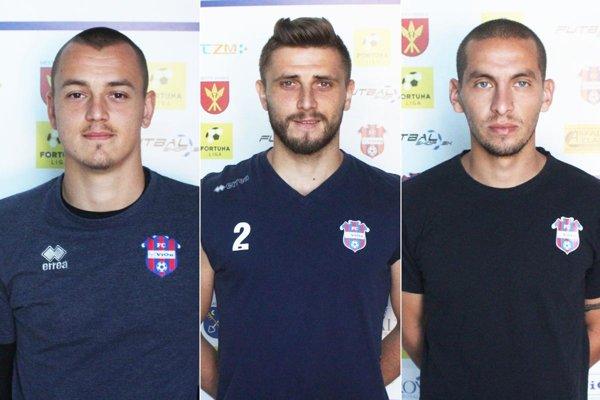 Zľava Adrián Chovan, Patrik Banovič a Jakub Brašeň.
