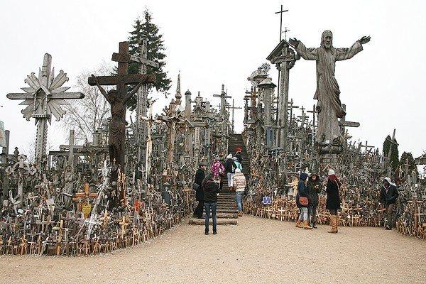 Na Hore krížov v Litve.