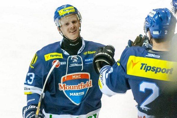 Tomáš Rusina (vľavo) hosťuje túto sezónu v martinskom klube.