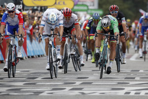 Peter Sagan zvládol špurt v 13. etape na Tour de France 2018.