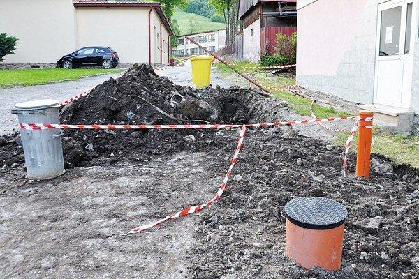 Nová kanalizácia.