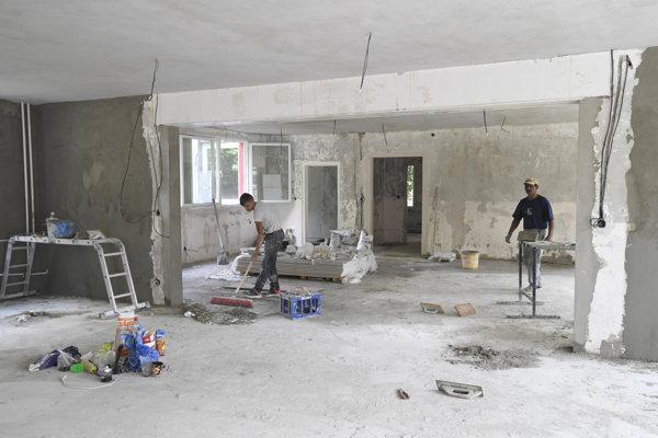 Rekonštrukčné práce na elokovanom pracovisku Materskej školy Žižkova v Košiciach.