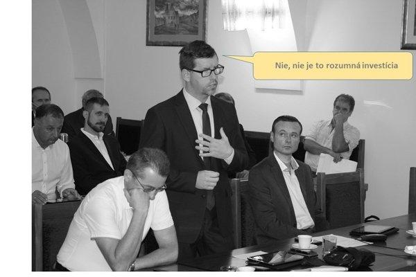 Diskusia poslancov oinvestícii do druhej mestskej plavárne. Martin Šmilňák.