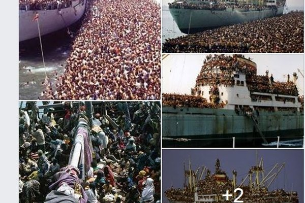 Zábery preplnenej lode nemajú s aktuálnou utečeneckou krízou nič spoločné.