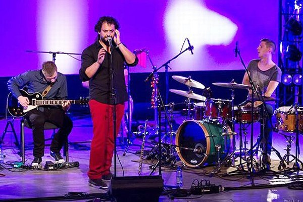 Marián Čekovský s kapelou.