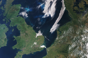 Veľká Británia a sever Francúzska, Holandsko, Belgicko, časť Nemecka ku koncu júna 2018.