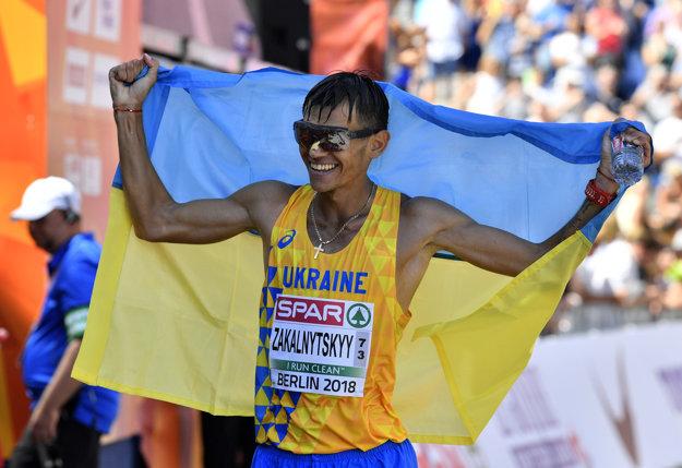 Marian Zakalnickyj z Ukrajiny sa stal majstrom Európy v chôdzi na 50 km.