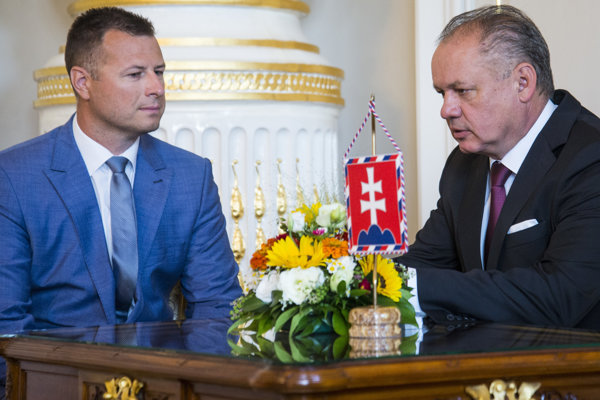 Minister spravodlivosti Gábor Gál na stretnutí s prezidentom Andrejom Kiskom.