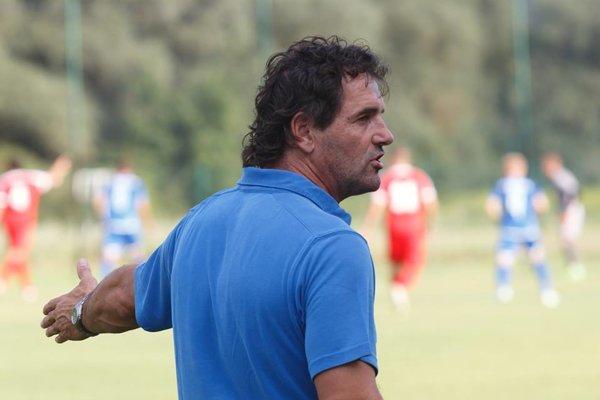 Na snímke tréner Bystričanov Dušan Tóth.