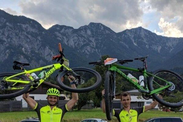 Marek Matúška (vľavo) a Marian Šimon v Rakúsku.