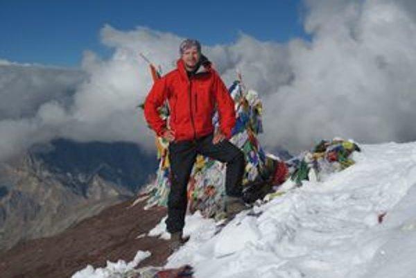 Tomáš Toček na vrchole Stok Kangri, 6125 metrov.