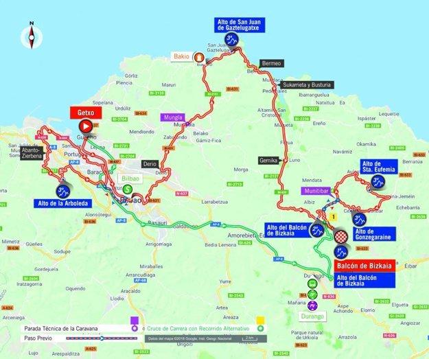 Mapa 17. etapy pretekov Vuelta 2018. (zdroj: lavuelta.es)