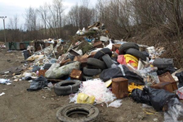 Ako na smetisku. Odpad neraz  končí vedľa kontajnerov.