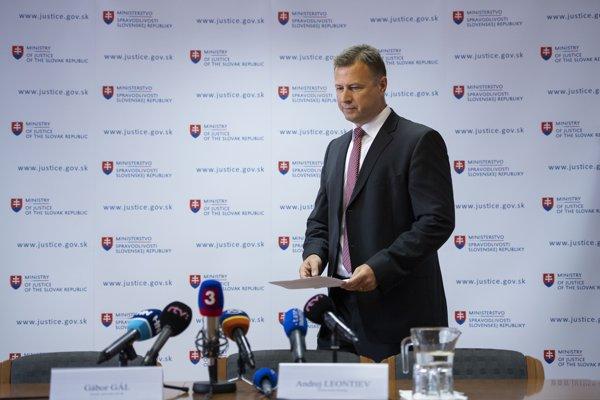 Minister spravodlivosti Gábor Gál.