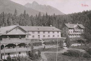 Hotel Bellevue je najstaršou zachovanou stavbou vo Vysokých Tatrách.