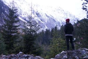 Výlet ku ľadovcu, Kaukaz, Gruzínsko.