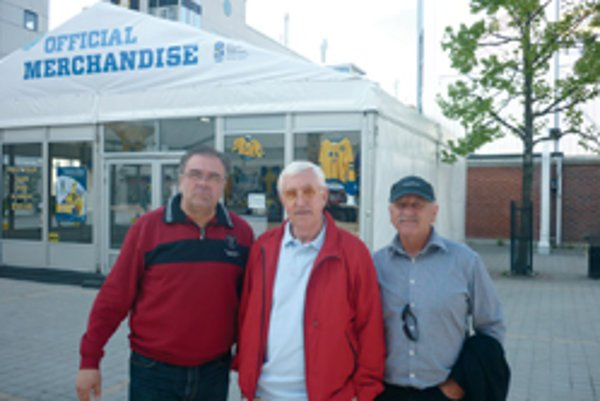 S legendou z Ruska. Zľava Július Valášek, Boris Michajlov a Rudolf Schwarz.