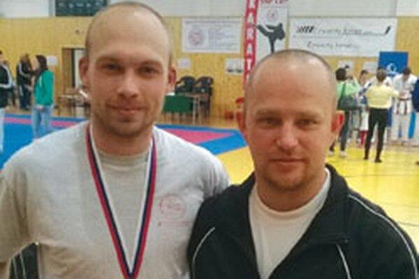 Milan Barányi (vľavo) so svojim trénerom Tomášom Klemanom.