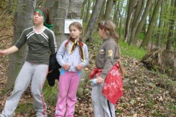 V lese čakali na skautov úlohy.