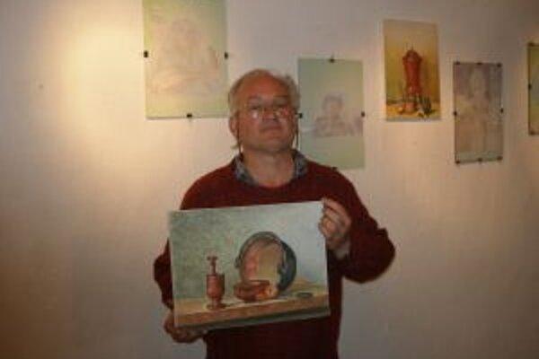 Štefan Šiška vystavuje prvý raz.