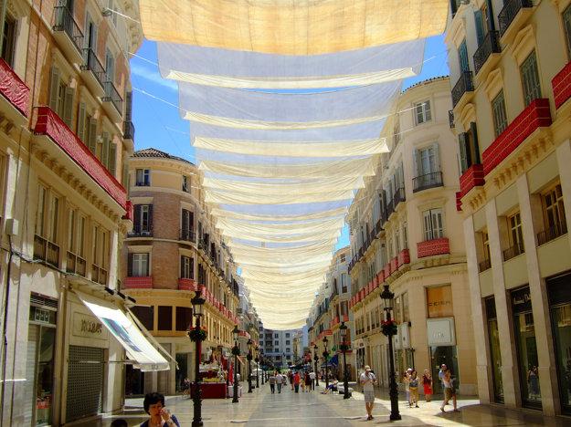 Hlavná nákupná ulica v Malage