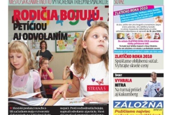 MY Topoľčianske noviny nájdete každý utorok v každom novinovom stánku v Topoľčanoch.