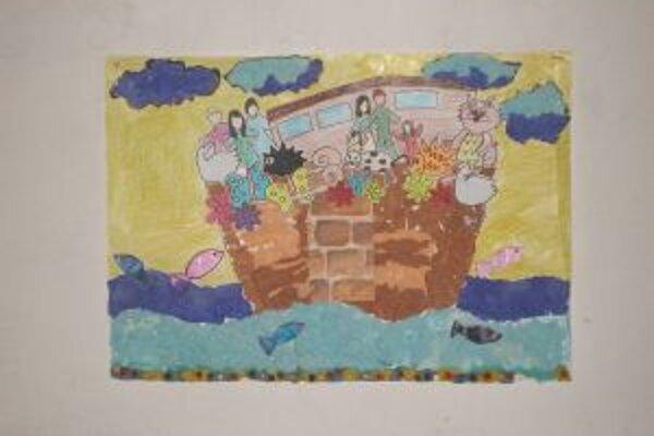 Témou výtvarnej súťaže bola Noemova archa.
