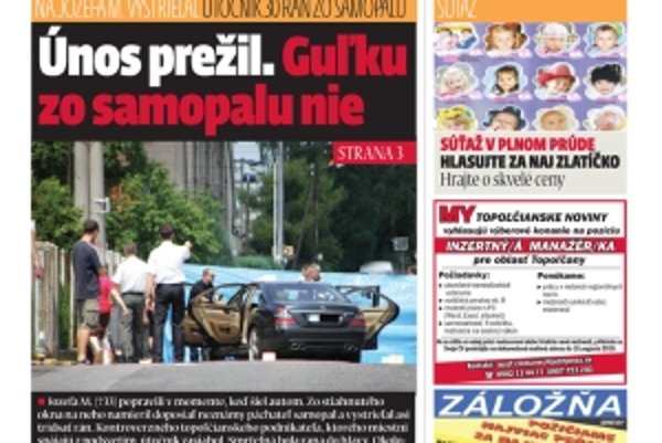 Najnovšie číslo Dneška vychádza v utorok.