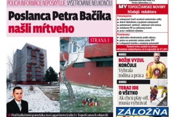 Najnovšie číslo MY Topoľčianske noviny Dnešok kúpite za 55 centov v každom stánku.