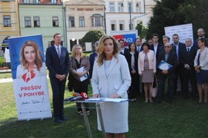 Andrea Turčanová, kandidátka na primátorku mesta Prešov.